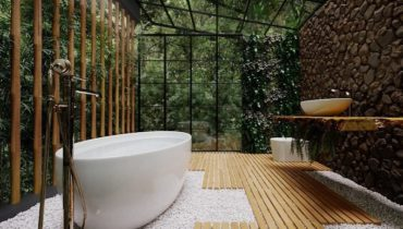 Tropical Green Tips For Bathroom Décor