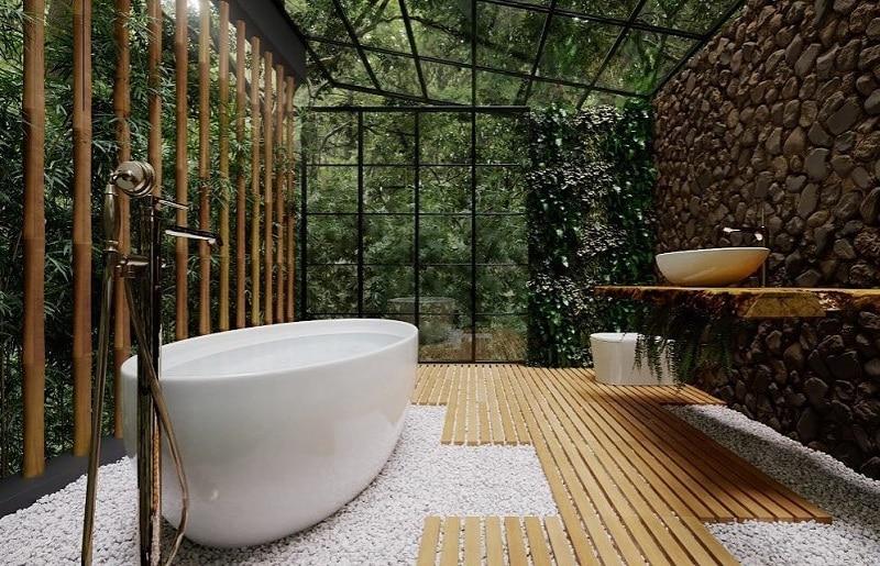 Tropical Green Tips For Bathroom Décor