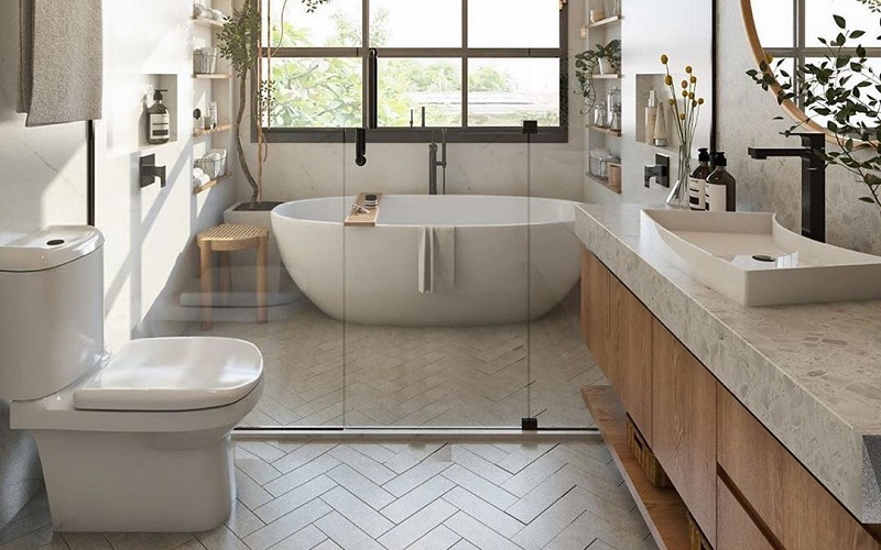 Concrete Makeover Ideas For Modern Bathroom