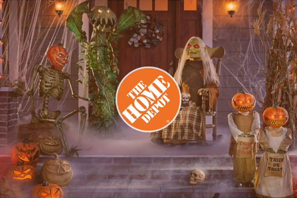 Home decor ideas for Halloween with the items from Home Depot